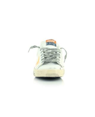 Super-Star Classic white leather sneakers with neon star and slogan GOLDEN GOOSE