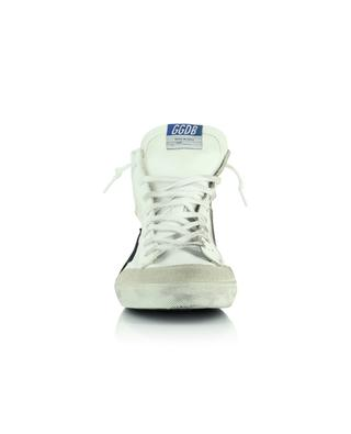 Francy Double distressed white leather high-top sneakers with black star GOLDEN GOOSE