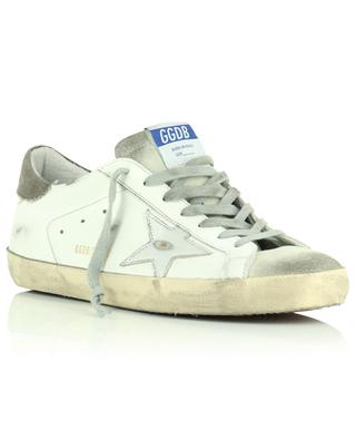 Baskets blanches en cuir étoile argentée Super-Star Classic GOLDEN GOOSE