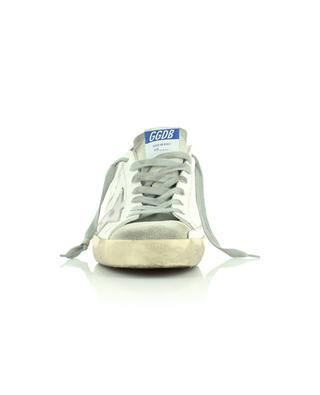 Weisse Ledersneakers mit silbernem Stern Super-Star Classic GOLDEN GOOSE