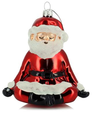 Yoga Santa Christmas ornament in glass SASS & BELLE