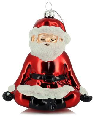 Yoga Santa Christmas ornament in glass SASS & BELLE