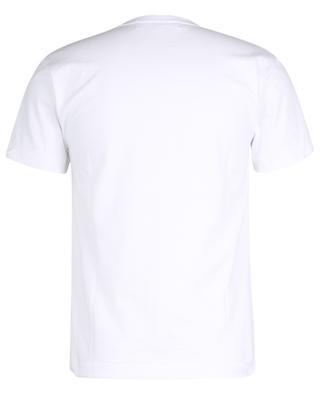 Schmales T-Shirt mit fluoreszierendem Herzprint und Stickerei COMME DES GARCONS PLAY