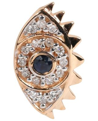 Solo Ajna Saphhire & Diamond single pink gold earring GINETTE NY
