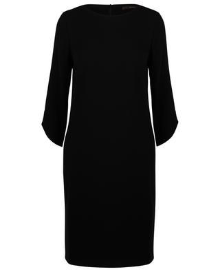 Robe courte droite en crêpe WINDSOR