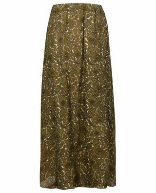 Maxi skirt in ornamental print adorned crepe WINDSOR