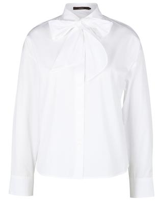 Poplin shirt with removable pussy bow WINDSOR