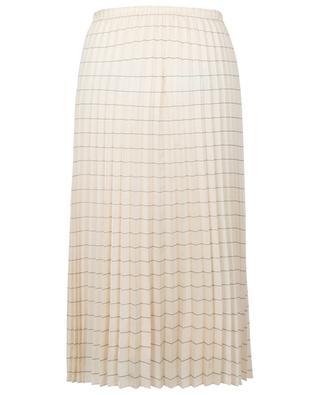 Striped pleated twill skirt WINDSOR