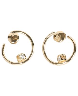 Le Cube Diamant yellow gold hoop earrings DINH VAN