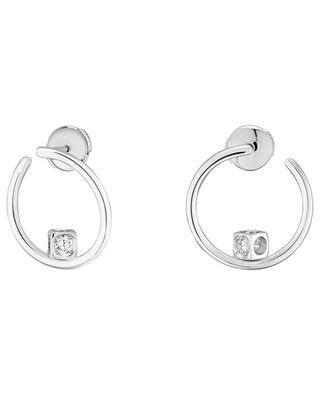 Le Cube Diamant white gold diamant hoop earrings DINH VAN
