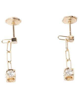 Boucles d'oreilles en or jaune avec diamant Le Cube Diamant DINH VAN