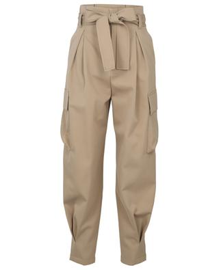 High-rise carrot trousers in cotton and virgin wool RED VALENTINO