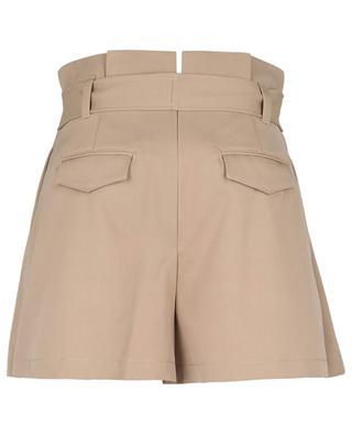 Belted high-rise gabardine shorts RED VALENTINO