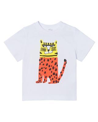 T-shirt bébé en coton durable Colorblock Tiger STELLA MCCARTNEY KIDS