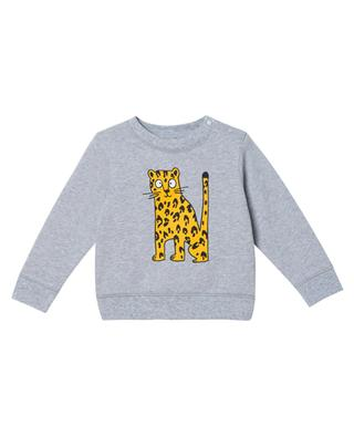Cheetah printed baby sweatshirt STELLA MCCARTNEY KIDS