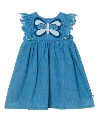 Ärmelloses Baby-Kleid aus Denim Butterfly Patch STELLA MCCARTNEY KIDS