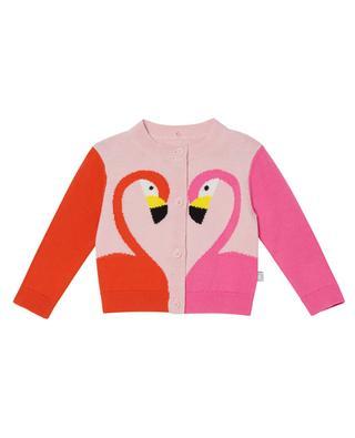 Cardigan bébé en coton bio Flamingo Intarsia STELLA MCCARTNEY KIDS