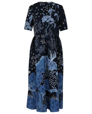 Robe longue en soie imprimée Oriental Toile de Jouy RED VALENTINO