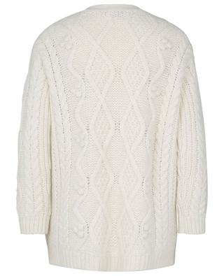 May Lily embroidered oversize cable knit cardigan RED VALENTINO