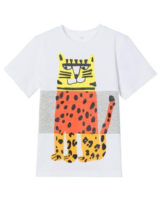 T-shirt garçon en coton bio imprimé Tiger STELLA MCCARTNEY KIDS