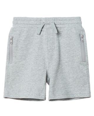 Heather grey sustainable cotton sweat shorts STELLA MCCARTNEY KIDS