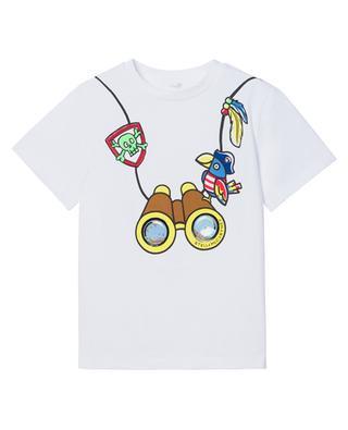 T-shirt garçon en coton durable Binocular STELLA MCCARTNEY KIDS