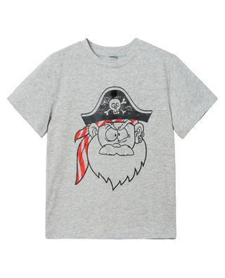 Funny Pirate Face printed organic cotton T-shirt with patches STELLA MCCARTNEY KIDS
