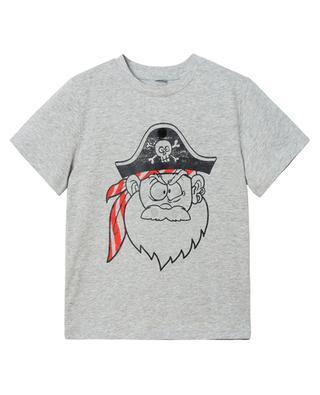 T-Shirt aus Biobaumwolle mit Print und Patches Funny Pirate Face STELLA MCCARTNEY KIDS