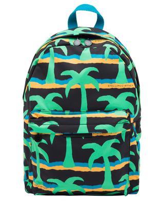 Palms printed water repellent boys' backpack STELLA MCCARTNEY KIDS