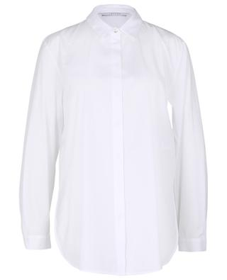 Knut belted cotton poplin long shirt IBLUES