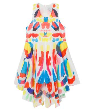 Butterfly sleeveless asymmetrical girls' dress STELLA MCCARTNEY KIDS