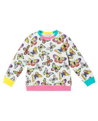 Butterfly girls' sweatshirt with round neckline STELLA MCCARTNEY KIDS
