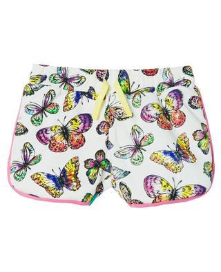 Butterflies printed fleece shorts for girls STELLA MCCARTNEY KIDS
