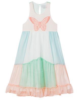 Butterfly sleeveless silk girls' dress STELLA MCCARTNEY KIDS