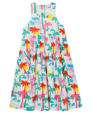 Palms printed sleeveless girls' dress in cotton STELLA MCCARTNEY KIDS