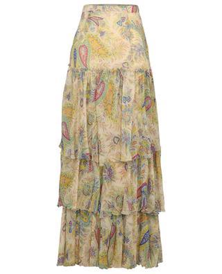 Jupe longue en mousseline imprimée paisley Salina ETRO