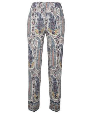 Hose aus Wolle und Seide mit Paisley-Print Jogging ETRO