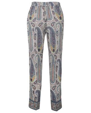 Pantalon en laine et soie imprimé paisley Jogging ETRO