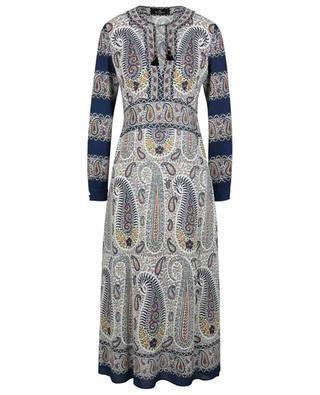Robe longue en crêpe imprimée Paisley Mosaic ETRO
