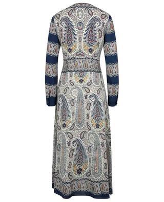 Langes Crêpe-Kleid mit Print Paisley Mosaic ETRO