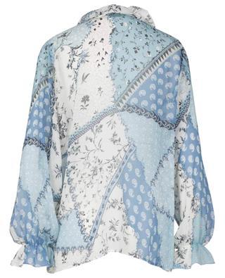 Bluse aus Musselin mit Patchwork-Print Sicilia ETRO