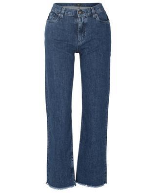 Ausgefranste Jeans mit hoher Taille und weitem Bein Ibiza ETRO