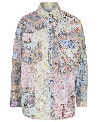 Oversize-Jeansblouson mit Paisleyprint Giglio ETRO