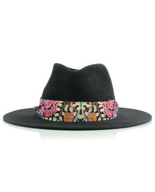 Felt Fedora embellished with floral Liberty fabric BY VANJA JOCIC