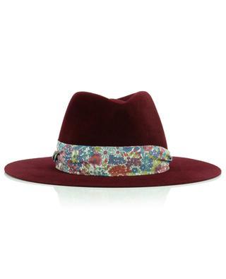 Felt Fedora embellished with floral Liberty fabric BY VANJA JOCIC