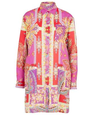 Sardegna patchwork printed ramie oversize shirt ETRO