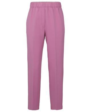 Pantalon droit fluide en laine mélangée FORTE FORTE