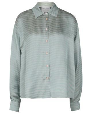 Boxy-Hemd aus Jacquard mit Hahnentrittmuster FORTE FORTE