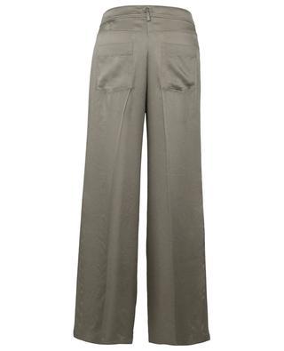 Hose im Jeans-Look mit weitem Bein aus marokkanischem Satin FORTE FORTE