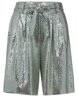 Jersey-Shorts mit weitem Bein und Glitter FORTE FORTE